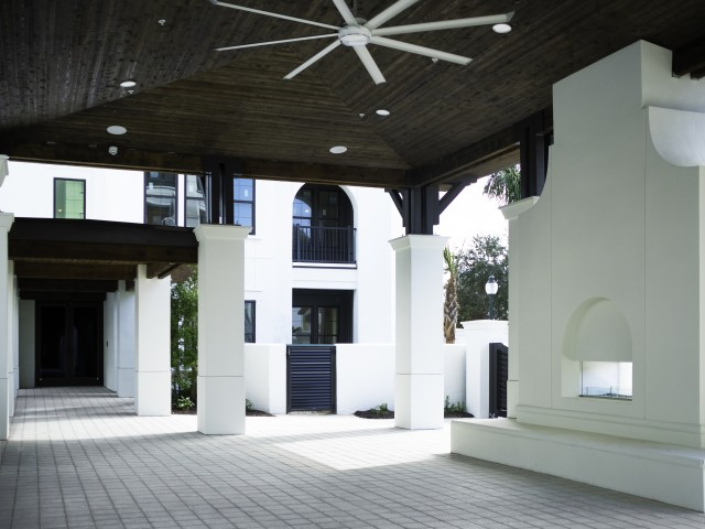 Image of Pavilion with fireplace and entertainment center for ARCOS
