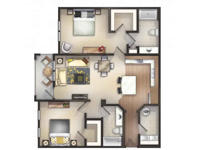 B5 - 2 Bedroom 2 Bath