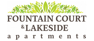 Lakeside and Fountain Court logo.
