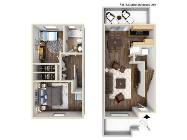 Stratford 2x1 Floor Plan
