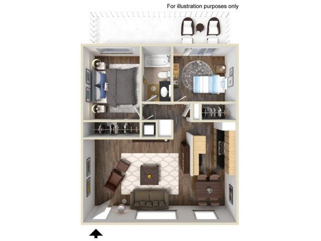 Cambridge 2x1 Floor Plan