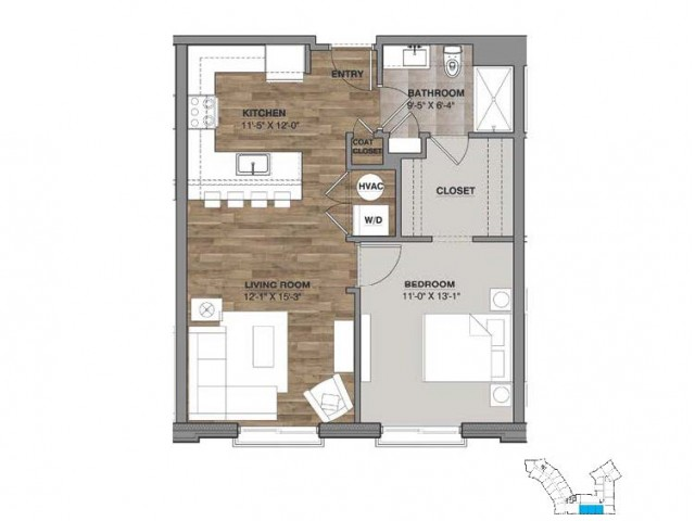 One Bedroom - Unit H
