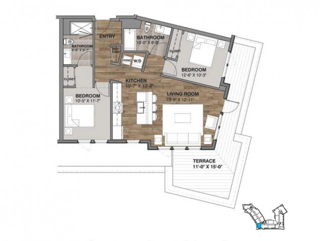 Two Bedroom - Penthouse G