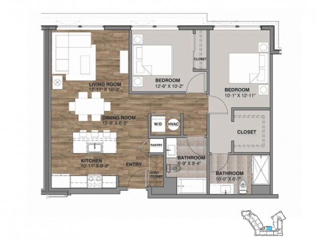 Two Bedroom - Penthouse K