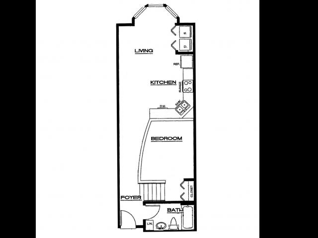 Spacious 1 bedroom, 1 bathroom Winter Park Village Loft apartment with large, interior Atrium patio.
