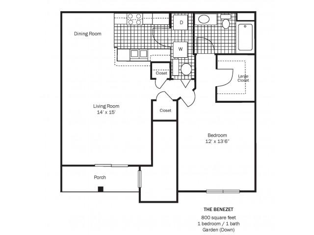 Benezet Floor Plan