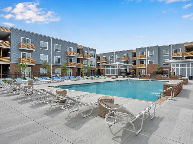 Resort-style pool area.