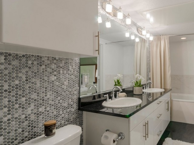 Image of Mosaic Tile Accent Wall In Bathrooms for The Towers Seabrook