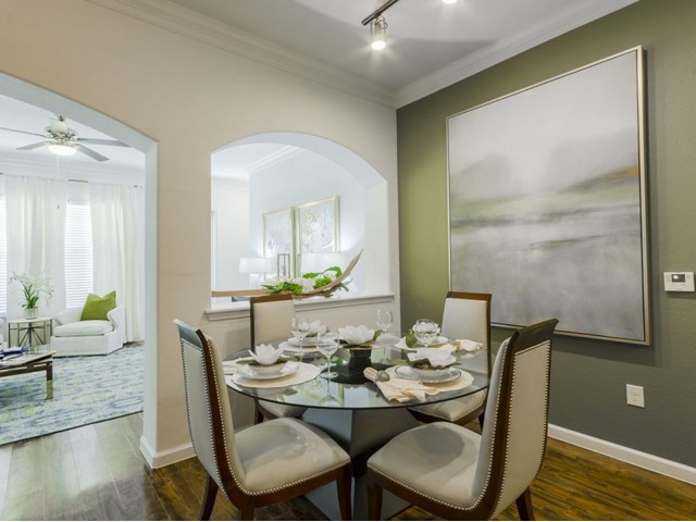 Image of Extensive Crown Molding Throughout Living, Dining & Bedrooms for The Mansions of Wylie Active Adult Community