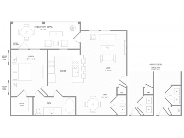 1 Bedroom Floor Plan