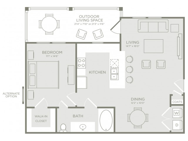 Floor Plan 3 | Apt In Conroe TX | The Towers Woodland