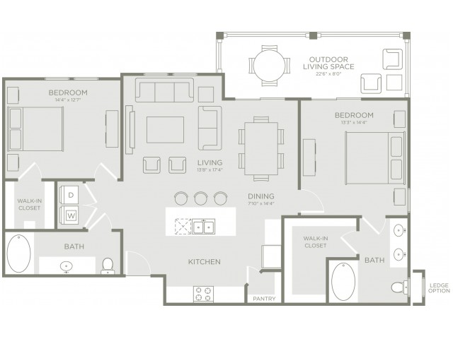 Floor Plan 5 | Apartments Conroe TX | The Towers Woodland