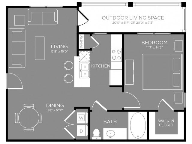 Floor Plan 2 | Apartments For Rent In Aubrey TX | The Estates 3Eighty