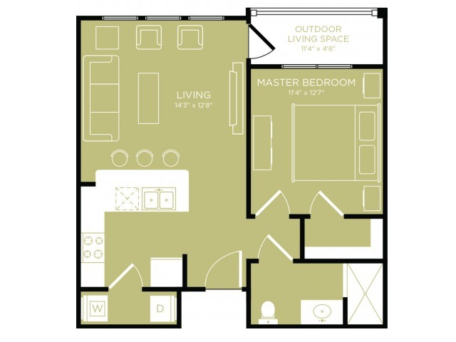 Floor Plan 3   Apartments In Wylie Texas   The Mansions at Wylie