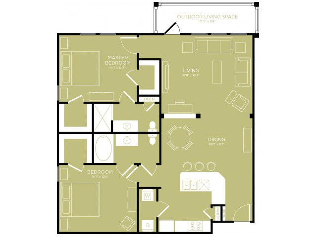 Floor Plan 9   Apartments Wylie TX   The Mansions at Wylie