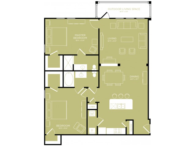 Floor Plan 13   Apartments Wylie TX   The Mansions at Wylie