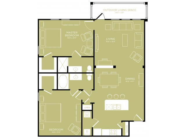 Floor Plan 11   Apartments Wylie TX   The Mansions at Wylie