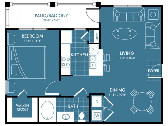 Floor Plan 2 | Apartments Magnolia | The Estates Woodland