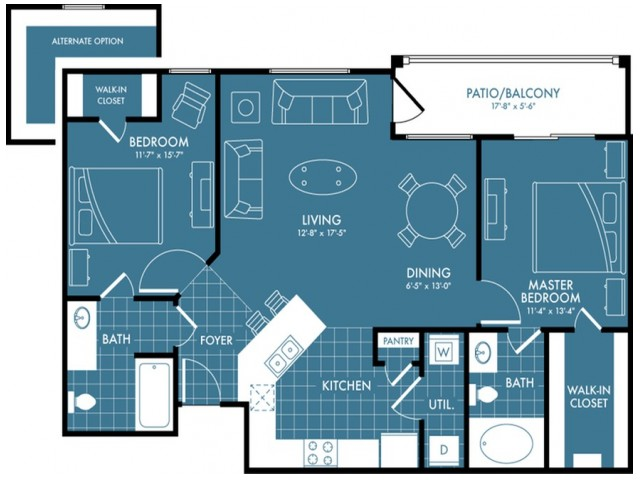 Floor Plan 3 | Apartments Near Magnolia TX | The Estates Woodland