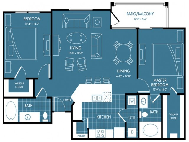 Floor Plan 4 | Magnolia Apartments | The Estates Woodland