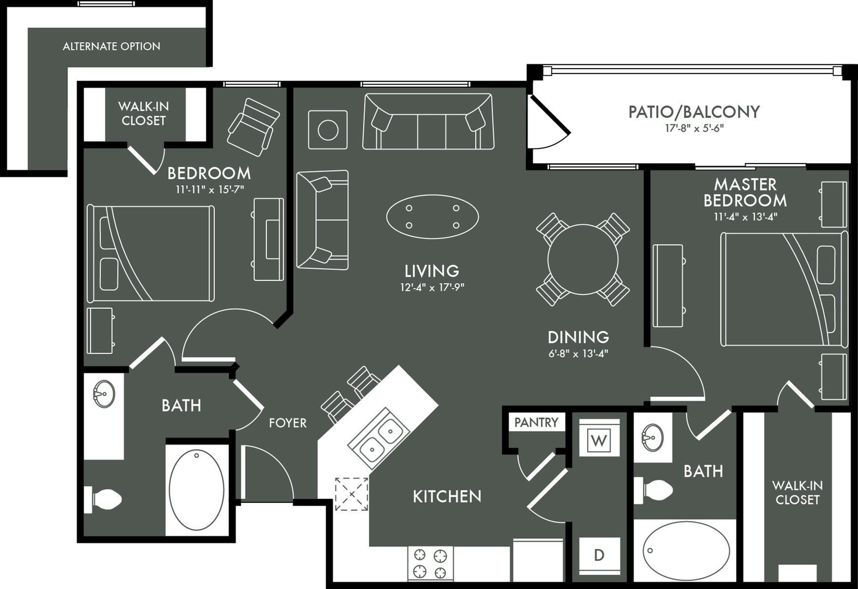 Floor Plan 4 | Magnolia Apartments | The Grand Estates Woodland