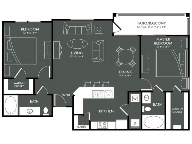 Floor Plan 6 | Apartments In Magnolia | The Grand Estates Woodland
