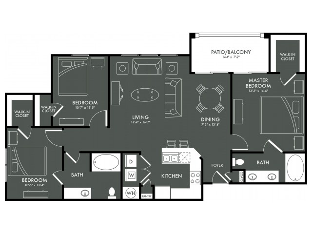 Floor Plan 8 | Apartments For Rent In Magnolia TX | The Grand Estates Woodland