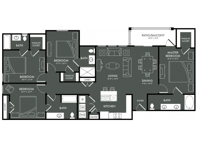 Floor Plan 10 | Magnolia TX Apartments | The Grand Estates Woodland