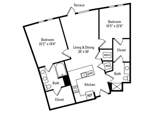 2 Bedroom - 2 Bathroom