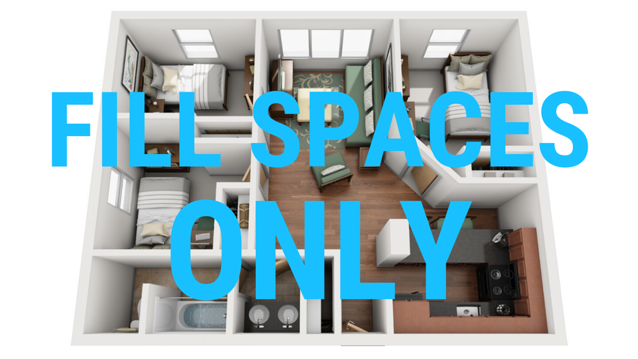 FILL SPACES ONLY
