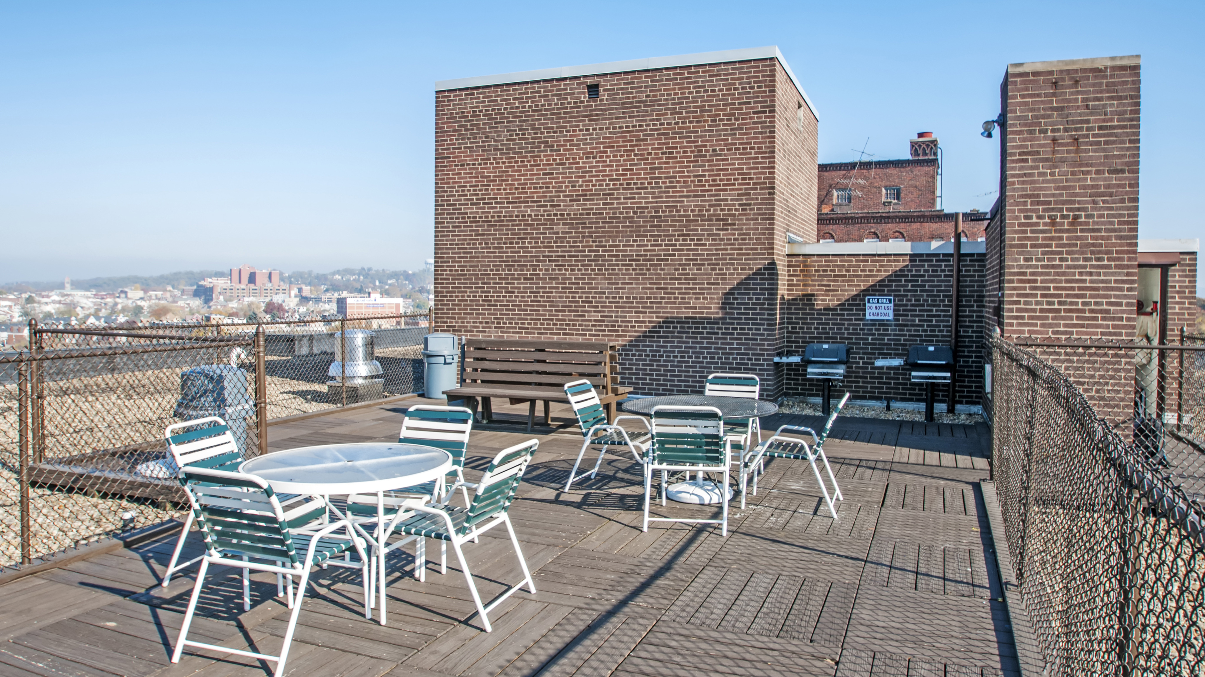 Image of Rooftop Sundeck with Barbecue Grills for Sherwood Towers Apartments
