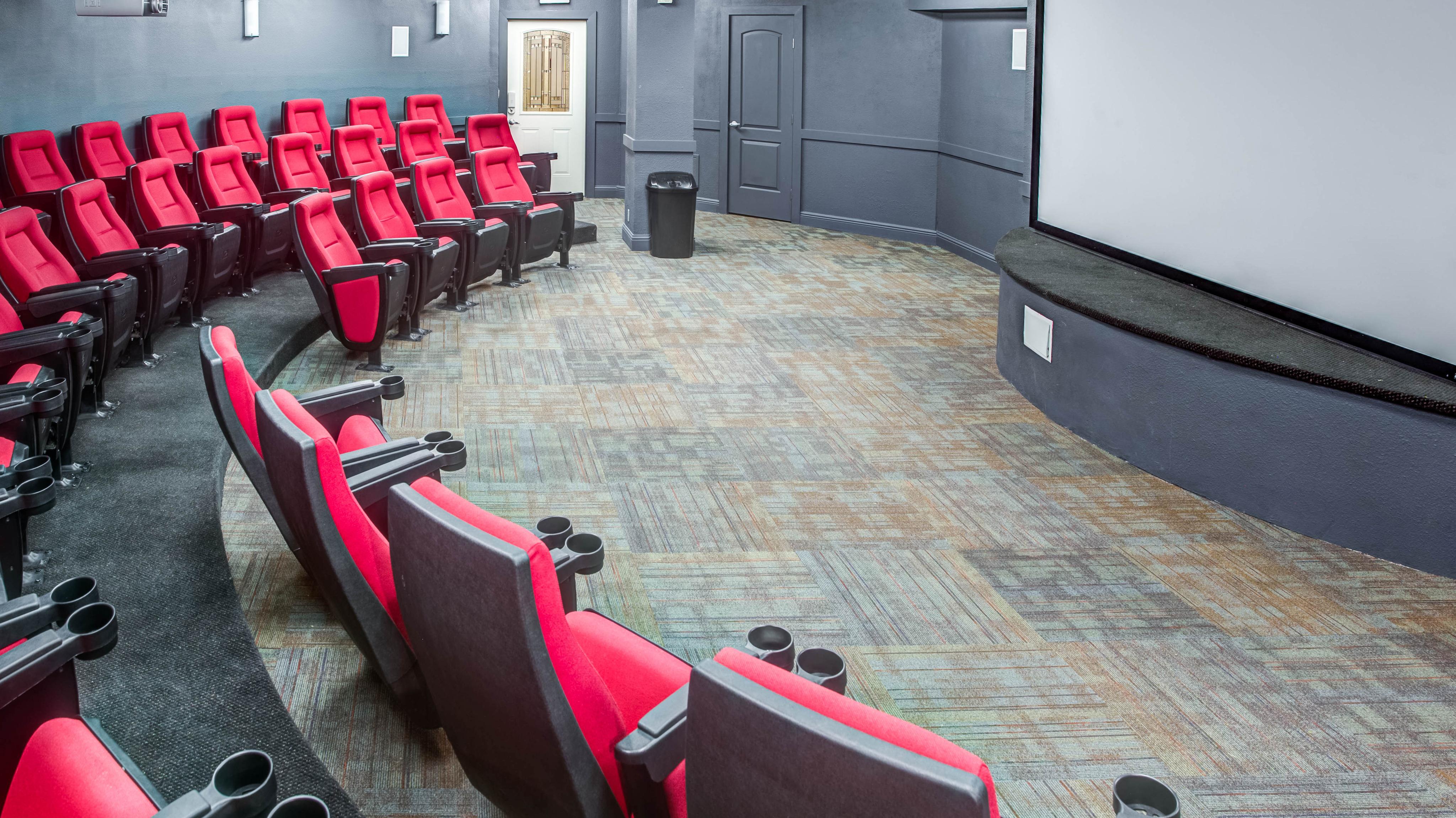 Theatre room in apartments in lubbock