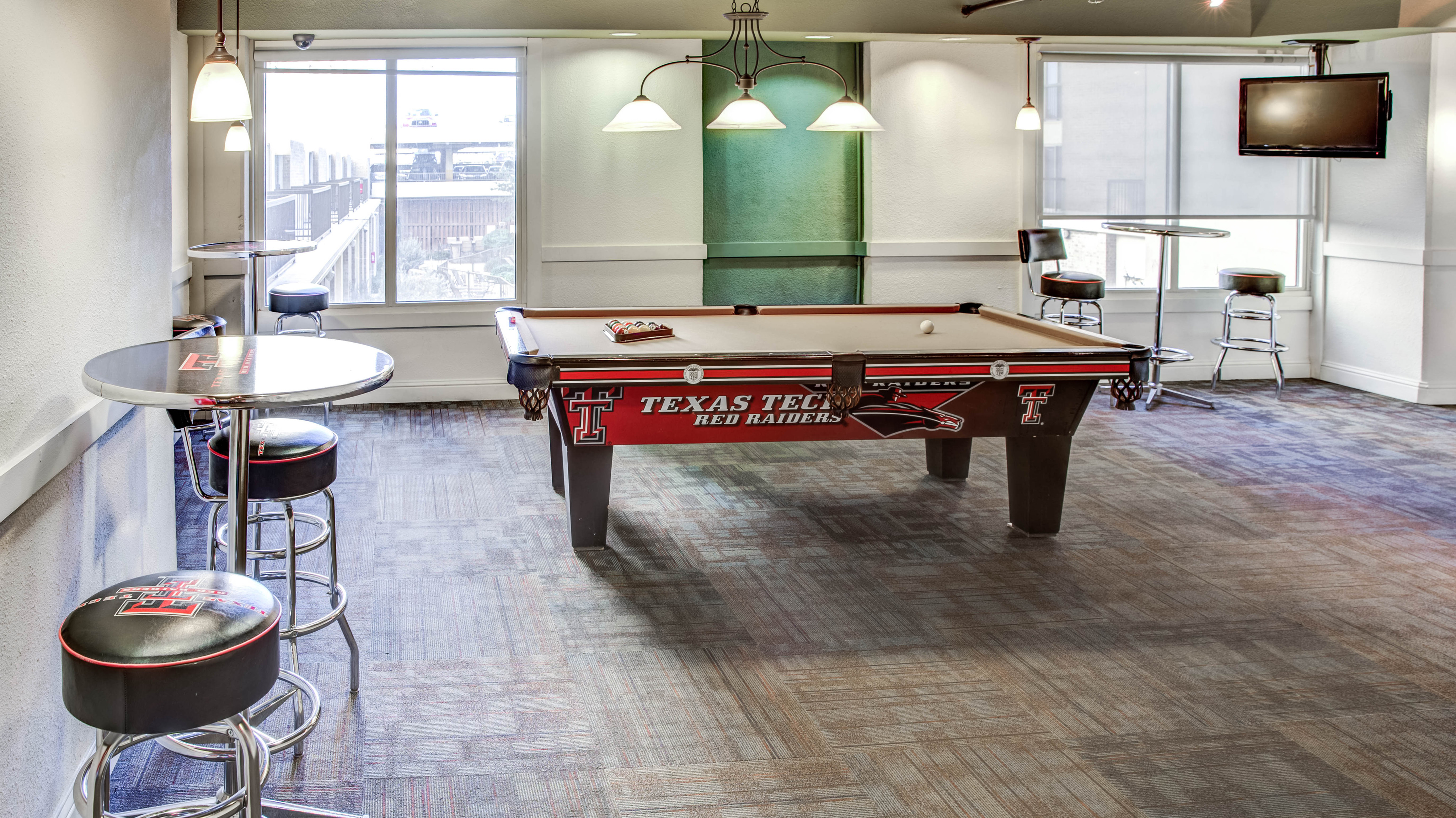 Pool room at apartments in lubbock TX