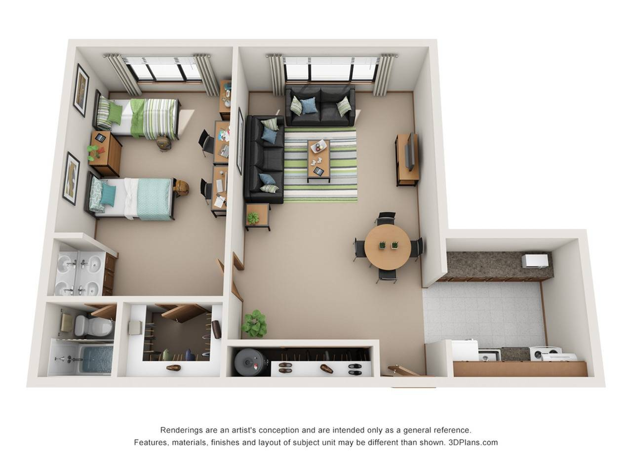 ONE BEDROOM-LARGE