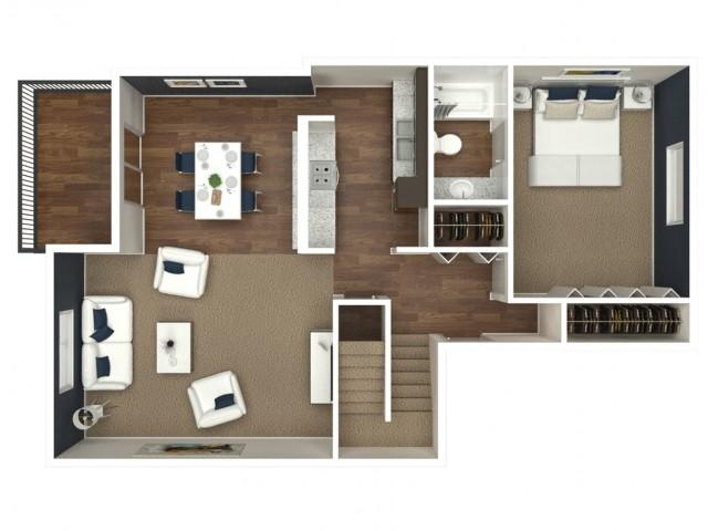 2 Bedroom | 2 Bath Loft
