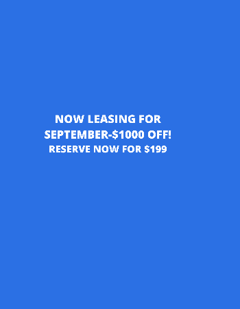 $1000 off September! Reserve your home for $199