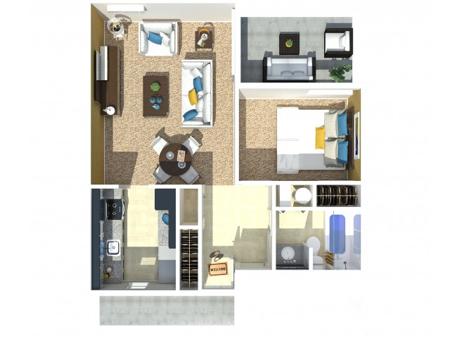 1 Bedroom 1 Bath C