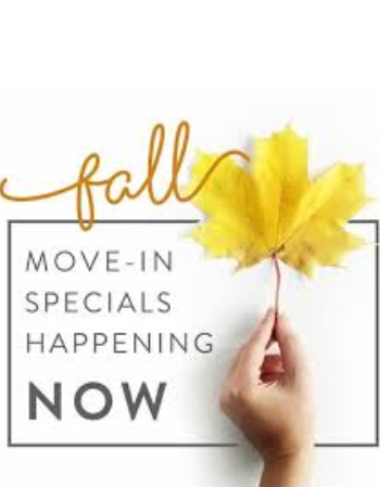 Fall in love with $500 off your FIRST 2 MONTH'S RENT on 12/13 month's leases! Waived app and admin fees! Ends 10/6/2020