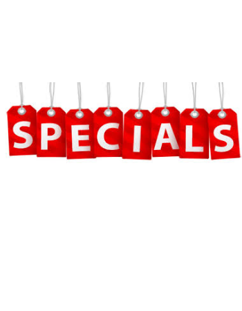 Reduced Rate Specials for a Limited  Time!! Call or Come by Today!!