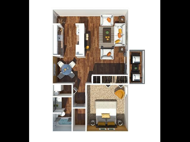 1 Bedroom 790