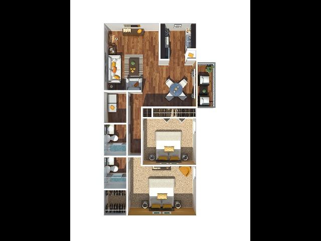 2 Bedroom 1168