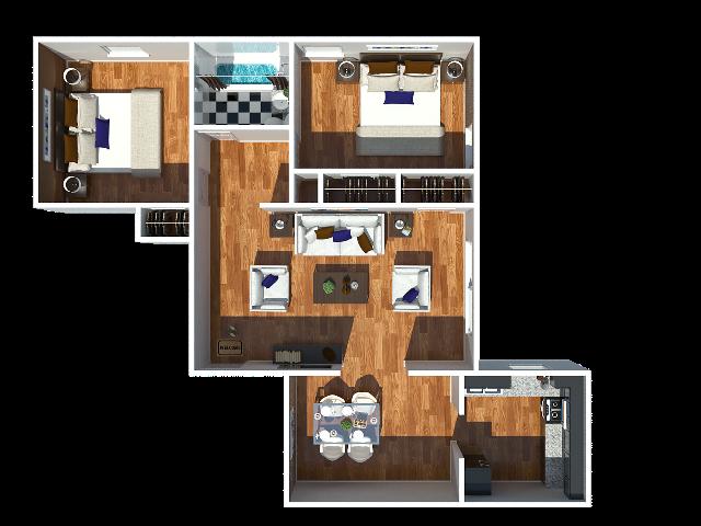 Jefferson 2 bedroom
