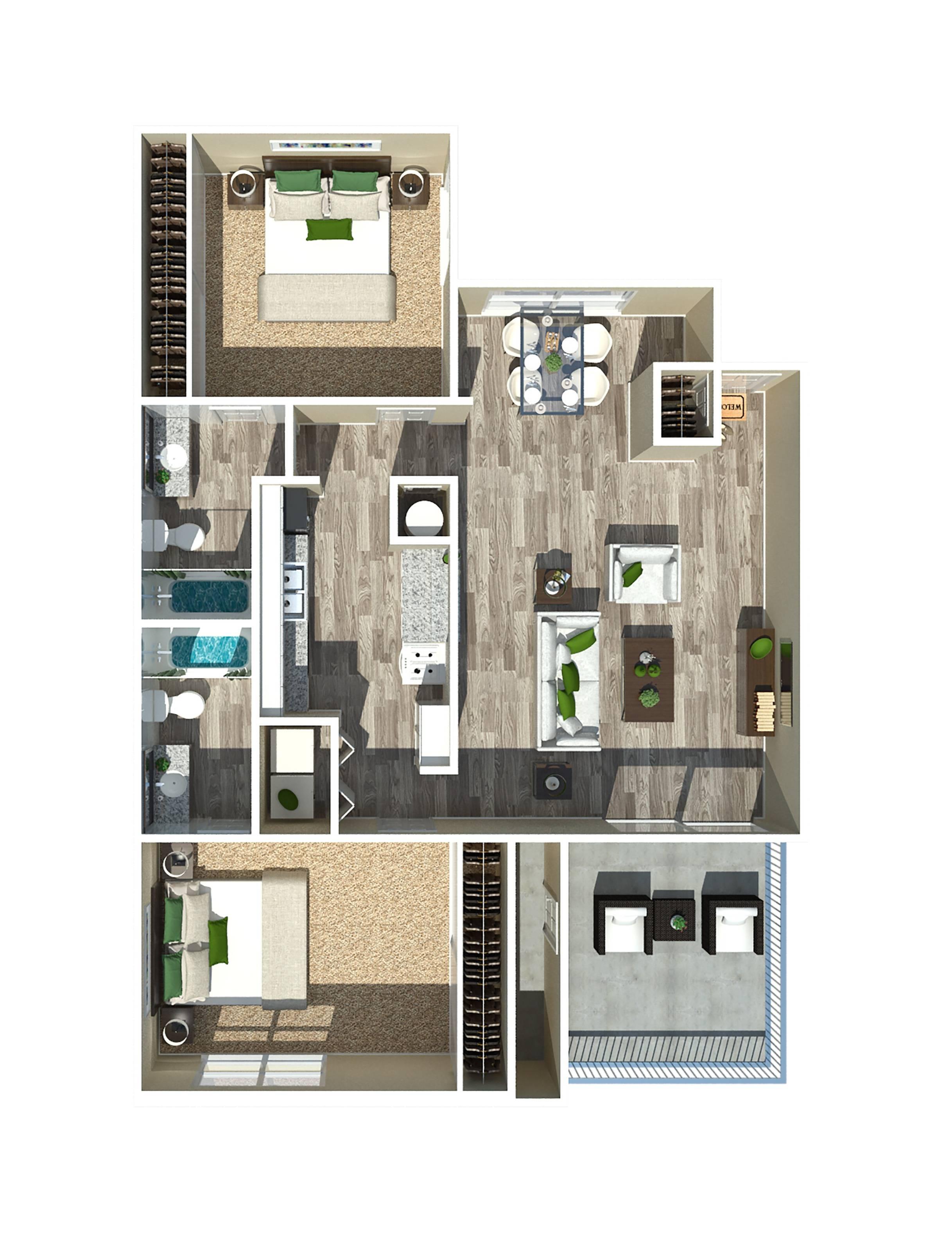 2 Bedroom 1049