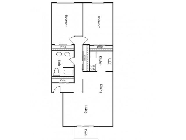 2 Bedroom Sub Level