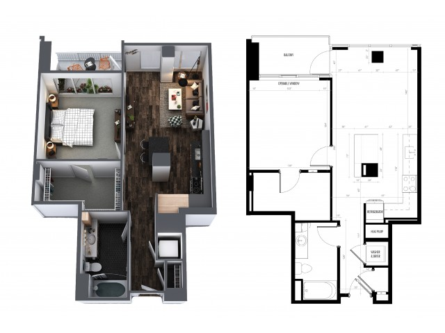 1 Bedroom 1 Bath Signature Collection