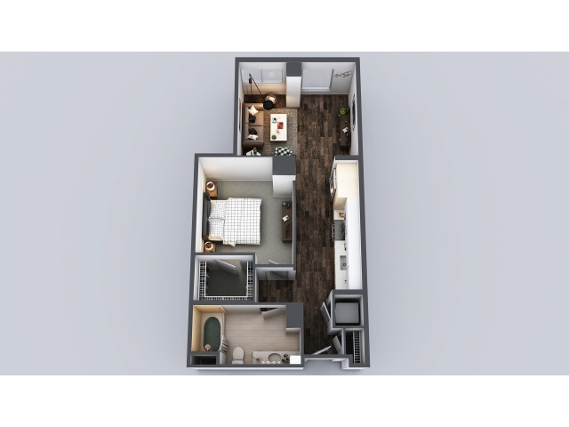 1 Bedroom 1 Bath Urban 654 Sq Ft