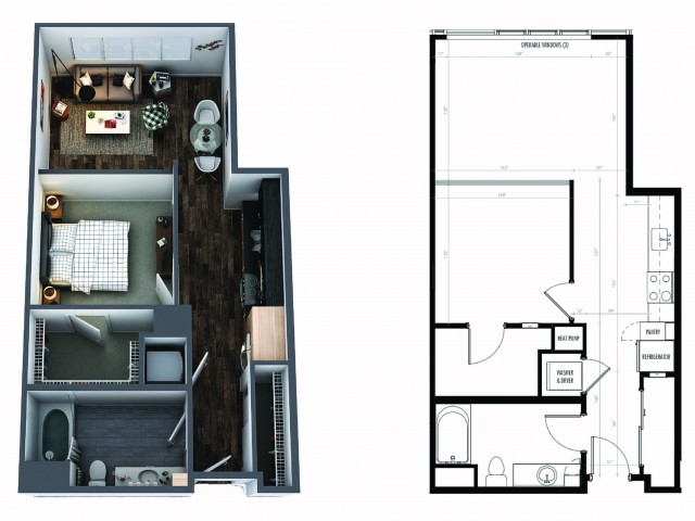 1 Bedroom 1 Bath Urban Signature Collection
