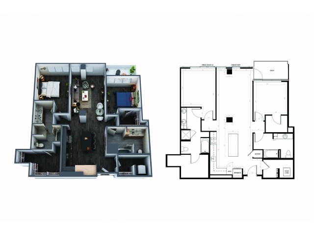 2 Bedroom 2 Bath Signature Collection