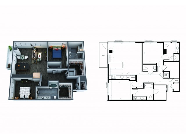 2 Bedroom 2 1/2 Bath Signature Collection
