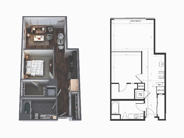Sentral Union Station A4F One Bedroom Floor Plan